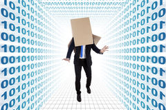 δυαδικοί ανίδεοι αριθμοί επιχειρηματιών Στοκ εικόνα με δικαίωμα ελεύθερης χρήσης