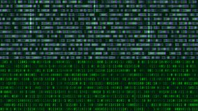 Δυαδικός κώδικας, πράσινα ψηφία στη οθόνη υπολογιστή Αριθμοί με το τ απεικόνιση αποθεμάτων