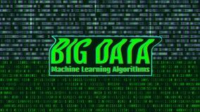 Δυαδικός κώδικας, πράσινα ψηφία στη οθόνη υπολογιστή ΜΕΓΑΛΑ ΣΤΟΙΧΕΙΑ Machi διανυσματική απεικόνιση