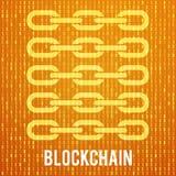 Δυαδικός κώδικας υπολογιστών Blockchain Ελεύθερη απεικόνιση δικαιώματος