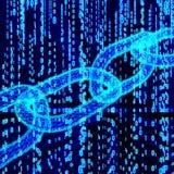 Δυαδικός κώδικας υπολογιστών Blockchain Στοκ Εικόνες