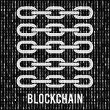 Δυαδικός κώδικας υπολογιστών Blockchain Στοκ Φωτογραφίες