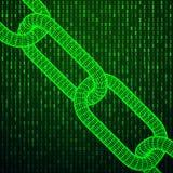 Δυαδικός κώδικας υπολογιστών Blockchain Στοκ εικόνα με δικαίωμα ελεύθερης χρήσης