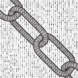 Δυαδικός κώδικας υπολογιστών Blockchain Στοκ εικόνες με δικαίωμα ελεύθερης χρήσης