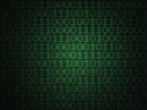Δυαδικός κώδικας υπολογιστών Grunge Στοκ Φωτογραφίες