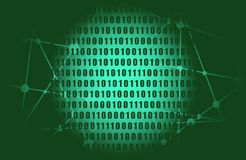 δυαδικός κώδικας φόντου απεικόνιση αποθεμάτων