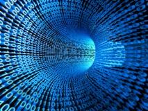 δυαδικό ρεύμα πληροφοριώ& διανυσματική απεικόνιση