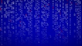 Δυαδική ανασκόπηση Δυαδικός κώδικας με τα ψηφία στην οθόνη επίσης corel σύρετε το διάνυσμα απεικόνισης ελεύθερη απεικόνιση δικαιώματος