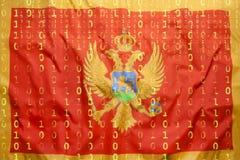 Δυαδικός κώδικας με τη σημαία της Ουγγαρίας, έννοια προστασίας δεδομένων Στοκ Εικόνες