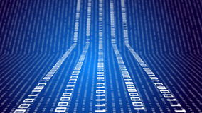 Δυαδικός κώδικας στην αφηρημένη τεχνολογία απεικόνιση αποθεμάτων