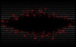 Δυαδικός κώδικας στο Μαύρο v2-6 Στοκ Εικόνα