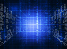 Δυαδικός μπλε κώδικας υπολογιστών Απεικόνιση αποθεμάτων