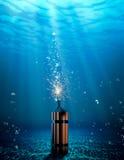 Δυναμίτης κάτω από το νερό Στοκ Εικόνα