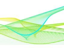Δυναμική και φωτεινή γραμμική σπείρα με τη ζωηρόχρωμη κλίση Στοκ Φωτογραφίες
