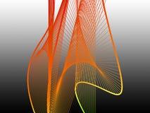Δυναμική και φωτεινή γραμμική σπείρα με τη ζωηρόχρωμη κλίση στοκ φωτογραφία