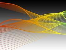 Δυναμική και φωτεινή γραμμική σπείρα με τη ζωηρόχρωμη κλίση στοκ φωτογραφία με δικαίωμα ελεύθερης χρήσης