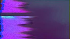 Δυναμική κακή επίδραση δυσλειτουργίας TV, φουτουριστικό μοντέρνο λάμποντας υπόβαθρο απόθεμα βίντεο