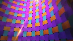 Δυναμικός ζωηρόχρωμος τοίχος υφάσματος διανυσματική απεικόνιση