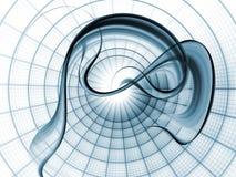 δυναμικό δίκτυο ανασκόπη&si διανυσματική απεικόνιση