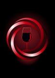Δυναμικό εικονίδιο για το κόκκινο κρασί διανυσματική απεικόνιση