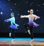 Δυναμικό και στατικός-βασικό εκπαιδευτικό μάθημα χορού Στοκ φωτογραφίες με δικαίωμα ελεύθερης χρήσης