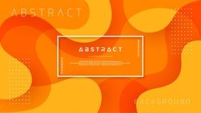 Δυναμικό κατασκευασμένο σχέδιο υποβάθρου στο τρισδιάστατο ύφος με το πορτοκαλί χρώμα διάνυσμα ανασκόπησης eps10 απεικόνιση αποθεμάτων