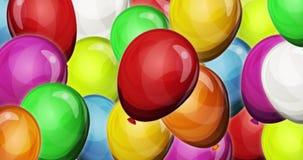 Δυναμικό υπόβαθρο μπαλονιών κομμάτων για το παιχνίδι ui διανυσματική απεικόνιση