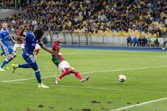 Δυναμό Kyiv †«Maritimo, Augu αγώνων ποδοσφαίρου ένωσης UEFA Ευρώπη Στοκ Φωτογραφία