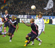 Δυναμό Kyiv παιχνιδιών FC ένωσης UEFA Ευρώπη εναντίον του Μπορντώ Στοκ φωτογραφίες με δικαίωμα ελεύθερης χρήσης