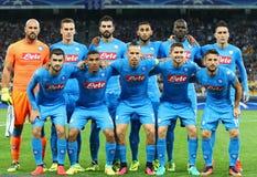 Δυναμό Kyiv παιχνιδιών FC UEFA Champions League εναντίον Napoli Στοκ εικόνα με δικαίωμα ελεύθερης χρήσης