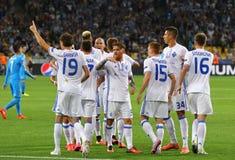 Δυναμό Kyiv παιχνιδιών FC UEFA Champions League εναντίον Napoli Στοκ φωτογραφία με δικαίωμα ελεύθερης χρήσης