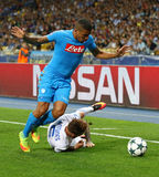 Δυναμό Kyiv παιχνιδιών FC UEFA Champions League εναντίον Napoli Στοκ Φωτογραφίες