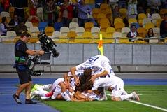 Δυναμό Kyiv παιχνιδιών UEFA Champions League εναντίον του Πόρτο Στοκ εικόνα με δικαίωμα ελεύθερης χρήσης