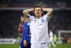 Δυναμό Kyiv ποδοσφαιρικών παιχνιδιών FC εναντίον FC Everton Στοκ εικόνα με δικαίωμα ελεύθερης χρήσης