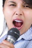 δυνατά τραγουδώντας Στοκ Εικόνα