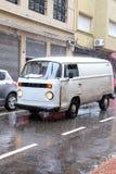 Δυνατή βροχή στο κέντρο πόλεων του Μοντεβίδεο, Ουρουγουάη Στοκ εικόνες με δικαίωμα ελεύθερης χρήσης