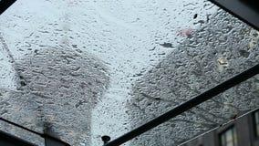 Δυνατή βροχή του Βανκούβερ απόθεμα βίντεο