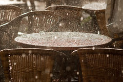 δυνατή βροχή Στοκ φωτογραφία με δικαίωμα ελεύθερης χρήσης