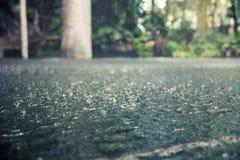 Δυνατή βροχή στοκ εικόνες