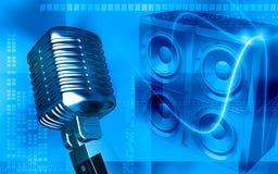 δυνατός καθορισμένος ομιλητής διανυσματική απεικόνιση