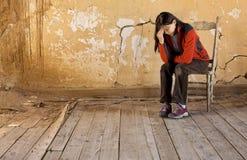 δυσκολίες κατάθλιψης Στοκ φωτογραφία με δικαίωμα ελεύθερης χρήσης