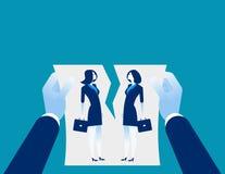 Δυσκολίες σχέσης Συμφωνία ακύρωσης χεριών Επιχειρησιακό vectorillustration έννοιας ελεύθερη απεικόνιση δικαιώματος