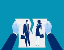 Δυσκολίες σχέσης Συμφωνία ακύρωσης χεριών Επιχειρησιακό vectorillustration έννοιας διανυσματική απεικόνιση