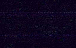 Δυσλειτουργία κανένα σήμα Ελάχιστο σκηνικό VHS Τηλεοπτικό πρότυπο προβλήματος Ψηφιακές διαστρεβλώσεις θορύβου και χρώματος εικονο διανυσματική απεικόνιση