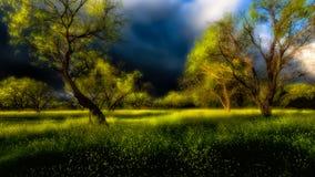 Δυσοίωνα σύννεφα πέρα από τη χώρα Hill του Τέξας στοκ φωτογραφία με δικαίωμα ελεύθερης χρήσης