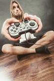 Δυστυχισμένα αρσενικά παίζοντας παιχνίδια Στοκ Εικόνα