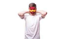Δυστυχισμένος και αποτυχία του στόχου ή χάστε τις συγκινήσεις παιχνιδιών του ποδοσφαίρου της Ισπανίας Στοκ φωτογραφία με δικαίωμα ελεύθερης χρήσης