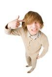 Δυστυχισμένος νεαρός άνδρας που απομονώνεται στην άσπρη ανασκόπηση Στοκ Εικόνες