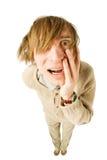 Δυστυχισμένος νεαρός άνδρας που απομονώνεται στο λευκό Στοκ Φωτογραφία