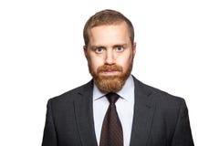 Δυστυχισμένος δυσαρεστημένος επιχειρηματίας Στοκ φωτογραφίες με δικαίωμα ελεύθερης χρήσης